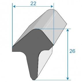 Joint de porte - 22 x 26 mm
