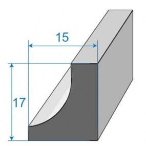 Joint de porte - 15 x 17 mm