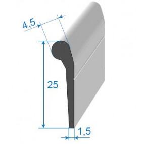Joint de porte à bourrelet - 4.5 x 25 mm
