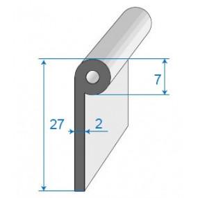 Joint bas de porte à bourrelet - 7 x 27 mm
