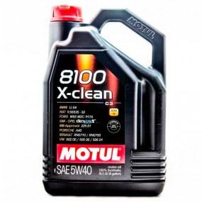 Huile Motul 8100 X-clean 5W40 - 5L