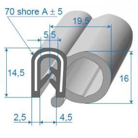 Joint de porte armé - 19.5 x 14.5 mm