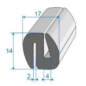 Joint de glace et pare-brise - 17 x 14 mm