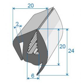 Joint de glace et pare-brise - 20 x 24 mm