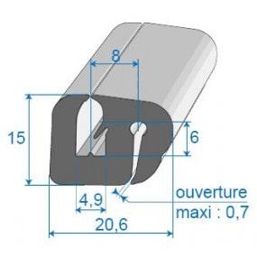 Joint de glace et pare-brise - 20.6 x 15 mm