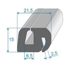 Joint de glace et pare-brise - 21.5 x 15 mm