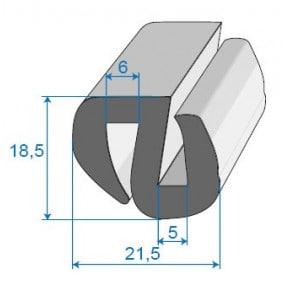 Joint de glace et pare-brise - 21.5 x 18.5 mm