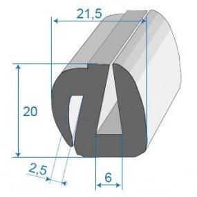 Joint de glace et pare-brise - 21.5 x 20 mm