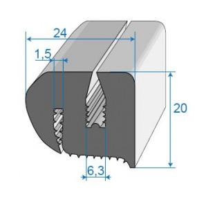 Joint de glace et pare-brise - 24 x 20 mm