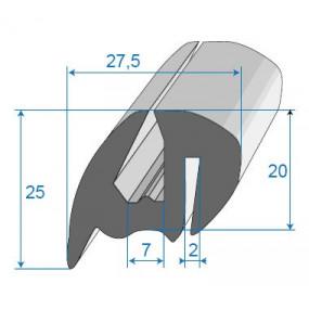 Joint de glace et pare-brise - 27.5 x 25 mm
