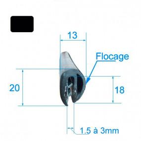 Joint armature métallique avec flocage (longueur 1.20 m)