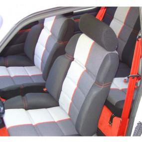 Garnitures siège avant et banquette arrière en tissu anthracite et tissu ramier 205 CTI