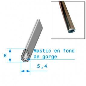Joint en U 5,4mm x 8mm de finition chromé