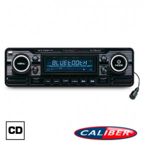 Autoradio Retrolook Caliber (RCD120BT/B) 12V finition noire