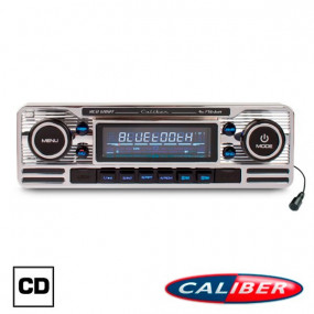 Autoradio Retrolook Caliber (RCD120BT) 12V finition chrome