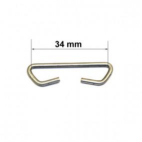 Maillon de liaison pour carcasse de siège (longueur 34mm) 30 pièces