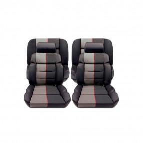 Garnitures siège avant et banquette arrière en cuir anthracite et tissu ramier 205 CTI