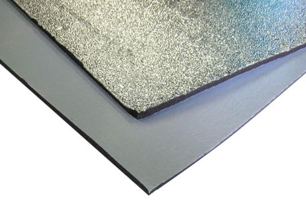 Isolant thermique aluminisé en plaque adhésive - 1mx0.5m
