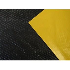 Plaque d'insonorisation en bitume, Vibrogum souple anti-bruit auto-adhésive (100x50cm)