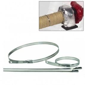 Collier inox pour la fixation d'isolant sur des tubes