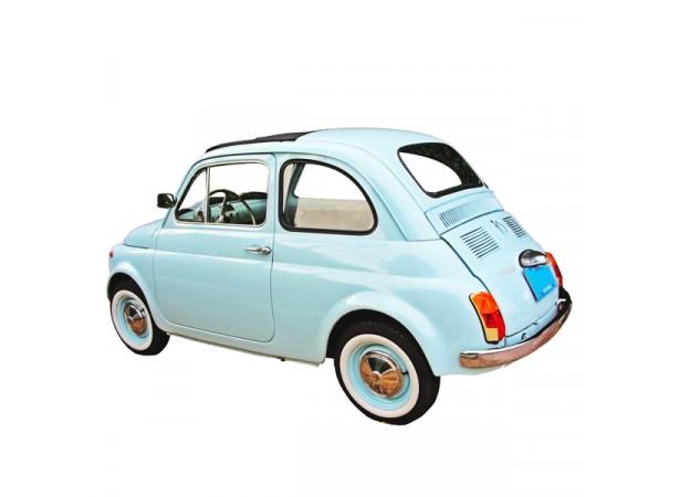 Capote toit ouvrant Fiat 500 D cabriolet en vinyle sur toile coton