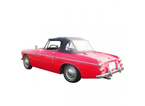 Capote auto Datsun 1200/1500 FairLady SP310 cabriolet en Alpaga avec lunette arrière en 3 parties