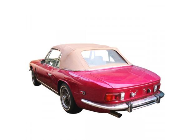 Capote auto Jensen Interceptor cabriolet en Vinyle aspect grain cuir avec lunette arrière en PVC