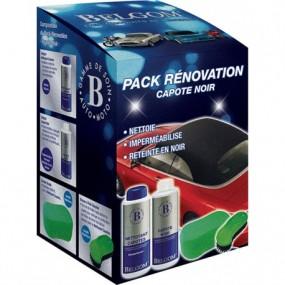 Pack nettoyage, rénovation et imperméabilisation Belgom® pour capote Alpaga noire