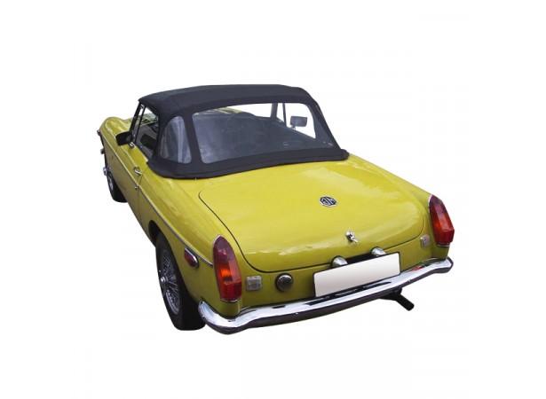 Capote auto MG B cabriolet en Vinyle avec lunette arriere en PVC