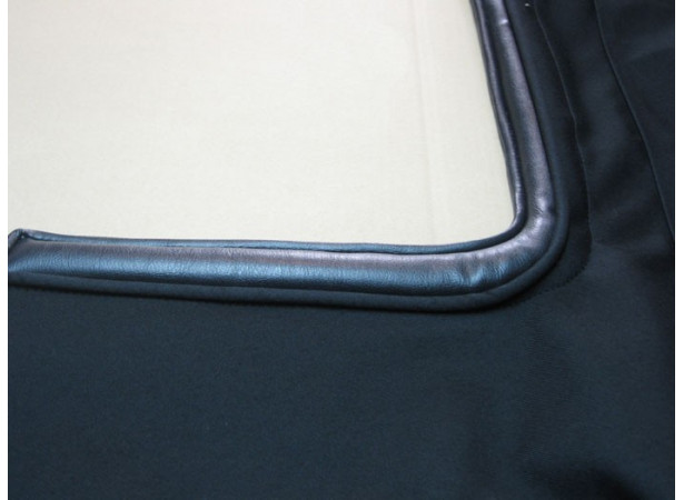 Capotes auto Alfa Romeo Coda Tronca 1750/2000 cabriolet coton double face Pininfarina avec lunette arriere en PVC