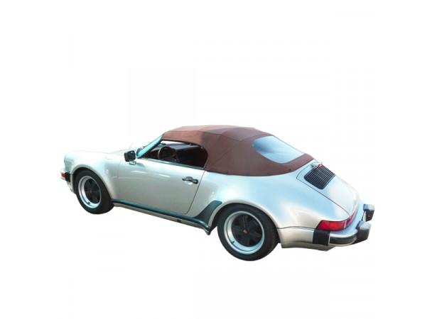 Capote auto Porsche Speedster cabriolet en Alpaga Sonnenland avec lunette arrière en PVC