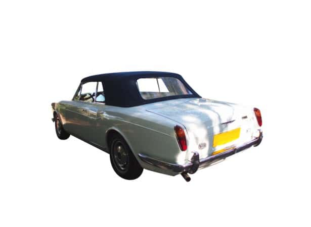 Capote auto Rolls Royce Corniche cabriolet en Vinyle Everflex avec lunette arrière en PVC