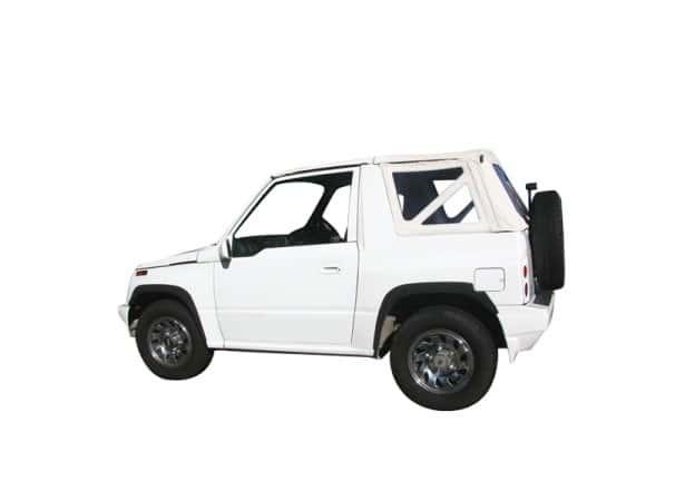 Capote 4x4 Suzuki Vitara MK1 cabriolet avec ouverture arrière en Vinyle sur toile coton