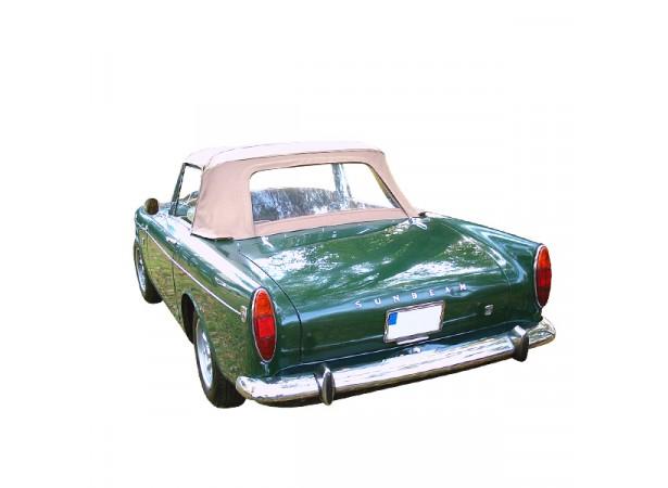 Capote auto Sunbeam Tiger MK1A cabriolet en Alpaga avec lunette arrière en PVC