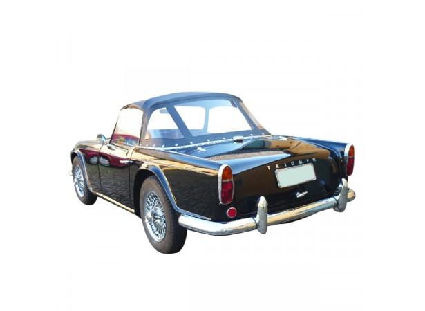 Capote auto Triumph TR4 cabriolet en Alpaga avec lunette arrière en PVC