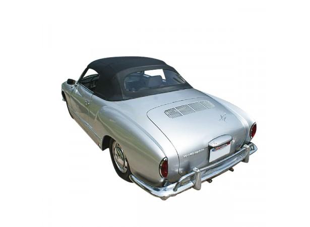 Capote auto Karmann Ghia cabriolet en Vinyle sur toile coton avec lunette arrière en PVC