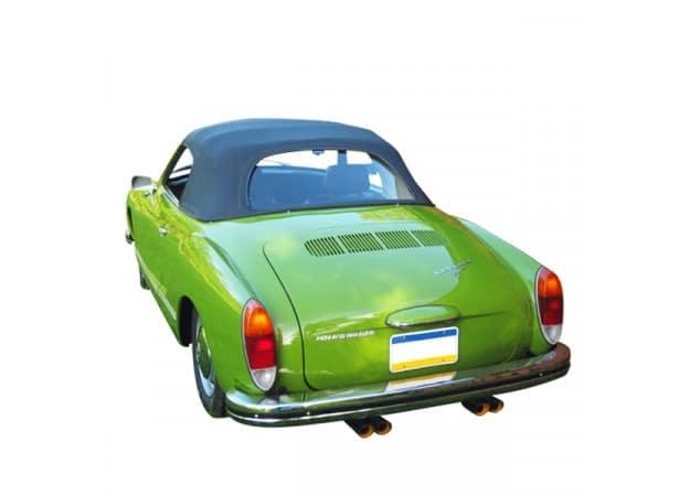 Capote auto Karmann Ghia cabriolet en Vinyle sur toile coton pour lunette arrière en verre