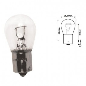 Ampoule P21w 12v plots décalés culot BAU15S - lot de  2