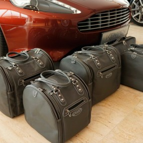 Bagagerie sur-mesure cuir pour Aston Martin Virage Volante