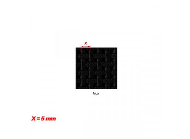 Simili-cuir cannage noir (23181)