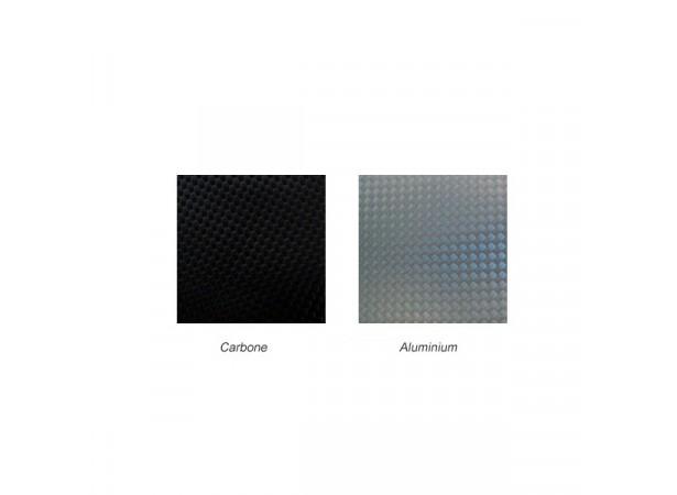 Skaï aspect Carbone et Aluminium