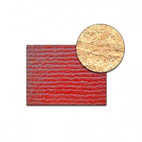 Revêtement Vinyle strié côtelé rouge sur feutre