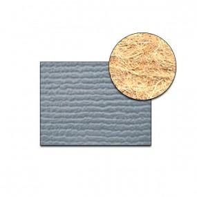 Revêtement Vinyle strié côtelé bleu gris sur feutre