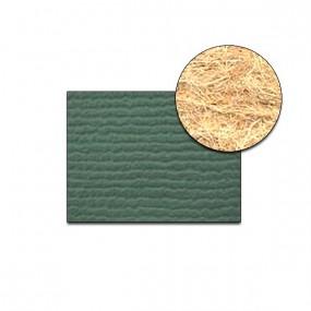 Revêtement Vinyle strié côtelé vert suède sur feutre