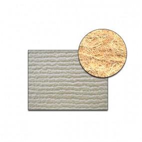 Revêtement Vinyle strié côtelé gris clair sur feutre