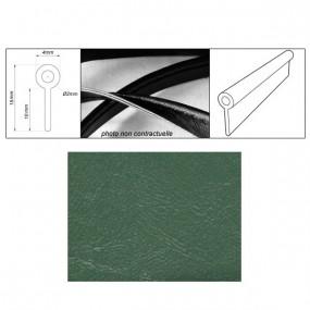Passepoil réalisé avec le simili vert suède grain fin auto-extensible