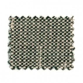 Tissus Granité noir sur fond blanc en 140 cm