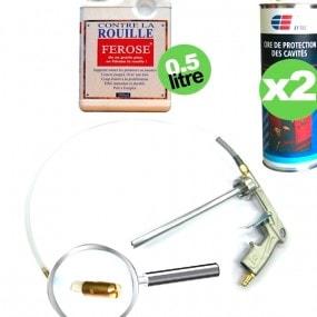 kit Dinitrol pour le traitement des corps creux pour automobile
