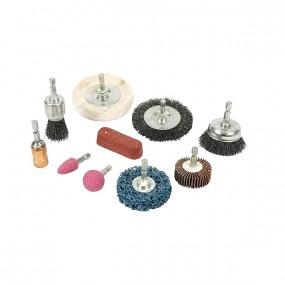 Kit nettoyage et polissage pour perceuse - 10 pièces
