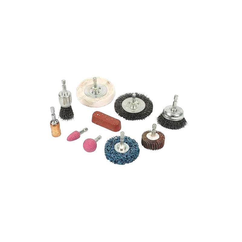 kit de nettoyage et polissage pour perceuse 10 pi ces. Black Bedroom Furniture Sets. Home Design Ideas